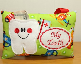 Tooth Fairy Pillow - Personalized Tooth Pillow - Personalized Pocket Pillow - Baby Tooth - Gift for Boy - Personalized Gift for Boy