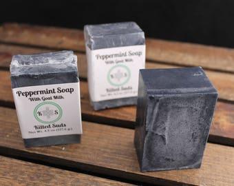 Peppermint Milk Bar Soap - Goat Milk Soap - Peppermint Soap - Palm Free Soap - Natural Soap