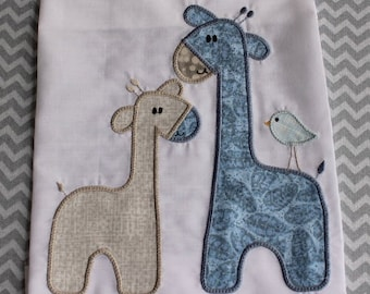 Baby Applique Machine Embroidery Design Giraffes