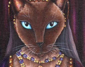 Tudor Queen Cat, Siamese Cat Catherine Howard, King Henry VIII Wife