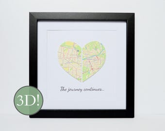 Military Housewarming Gift- Long Distance Relationship, Moving Gift, Paper Anniversary Gift for Couples, 1st Anniversary, Gift for Friends