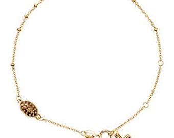 "14K Yellow Gold Rosary Bracelet 6-8"""