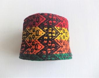 Wool Tribal Fabric Cuff Bracelet,Wool Cuff,Tribal Fabric Cuff,Cuff Bracelet,Wide Cuff Bracelet,Bohemian Cuff Bracelet,Fabric Cuff Bracelet