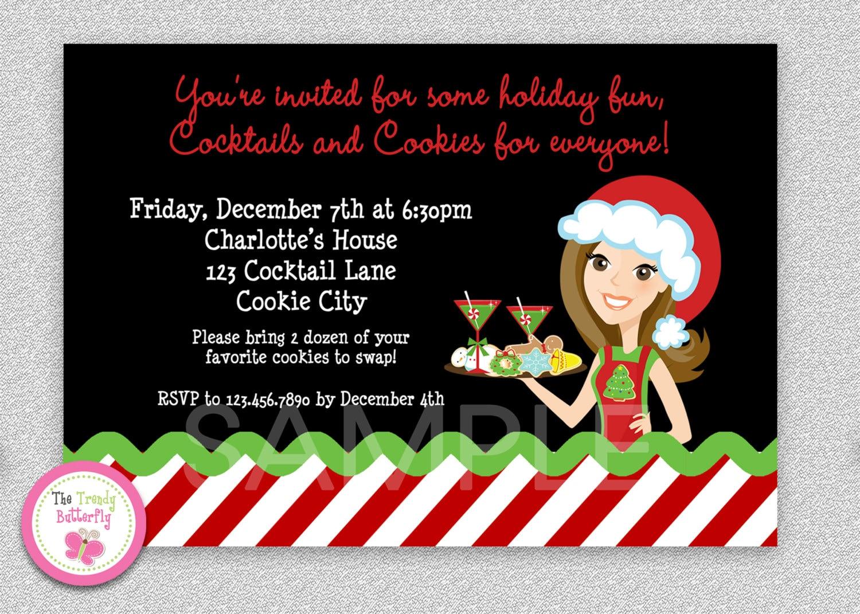 Cookie Exchange invitation Cookie Swap Invitation Cookies