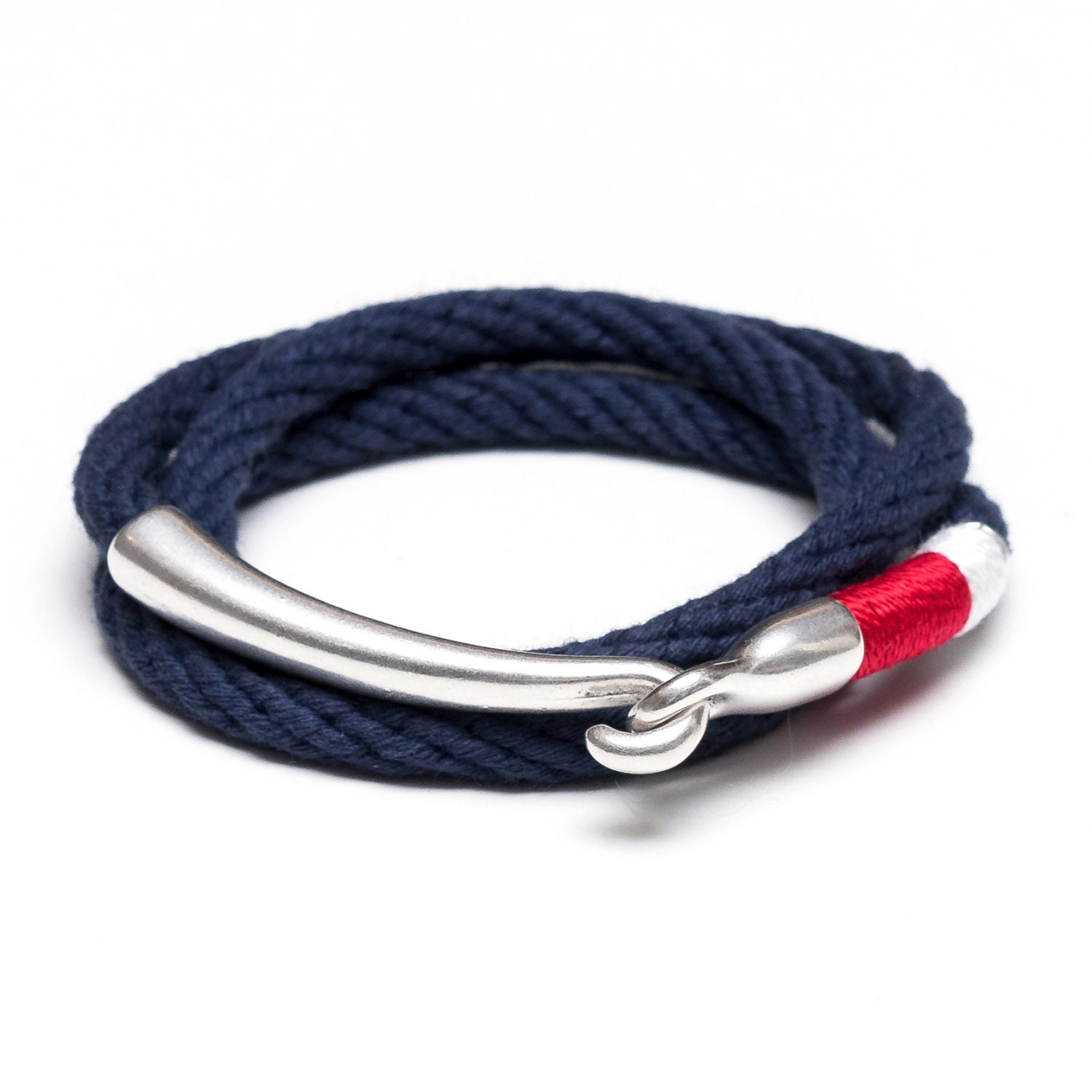 navy white listing blue knot and zoom bracelet nautical infinity fullxfull il double rope