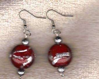 silver  wine earrings