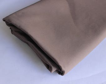 brown satin back heavy cotton