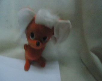 Vintage 1966 Kamar Stuffed Orange Mouse, Made In Japan, has tag,  collectable