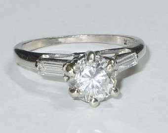 1.11ct Diamond Engagement Ring 14Kt Gold Setting 7500usd COA Appraisal Report