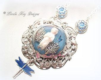 Believe Frozen Charlotte Necklace Tiny Charlotte Doll Resin Soldered Pendant Lorelie Kay Original