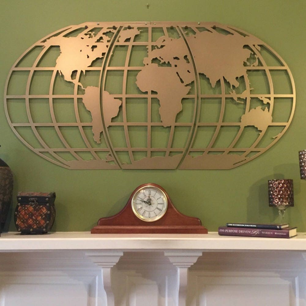 World map wall art globe metal wall artpersonalized in zoom gumiabroncs Images