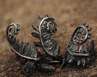 """Silver handmade ring """"Fern leaf"""""""