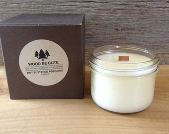 Hot Buttered Popcorn 100% soy wax candle