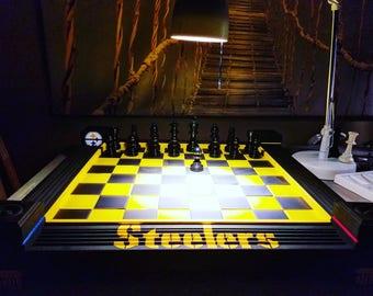 NFL Themed custom chess boards