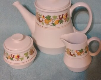Noritake Homecoming Pattern Progression Coffee Tea Set