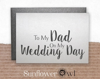 To my dad on my wedding day wedding thank you card father of the bride groom gift note to my parents