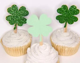 shamrock cupcake - st patricks cupcake - st patricks day cake - lucky one cupcake - st patricks party -st patricks decor - shamrock toppers