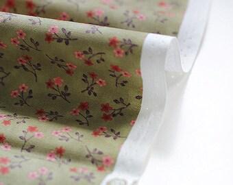 Cotton Fabric Tiny Flowers - Khaki - By the Yard 38516