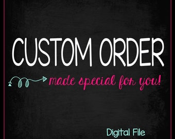 You Print - Completely Custom Order - Personalized Birthday Chalkboard - First Birthday Sign - Any Age - Choose Your Own Theme - Custom