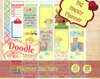 Spring Colors for Big Happy Planner | Big Happy Planner Stickers | Big Happy Planner | Create 365 Stickers | MAMBI Stickers