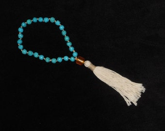 Meditation and Prayer Mala Beads with Magnacite and Copal