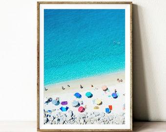 Beach print, digital download, beach poster, instant download, ocean print, coastal wall art, beach wall art, beach wall decor, summer print
