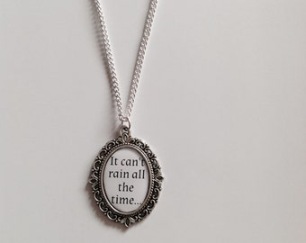 It Can't Rain All The Time Cameo Necklace