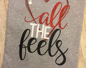 All the Feels Glitter Shirt