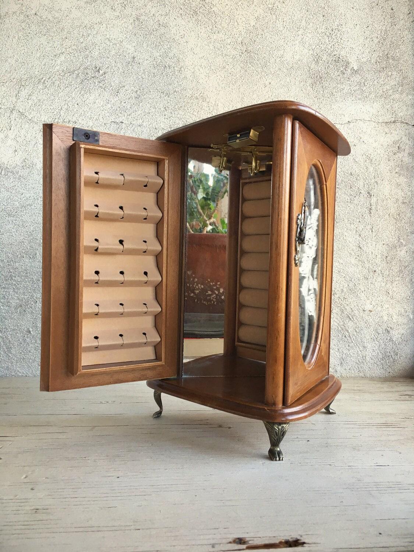 Armoire Jewelry Box Tabletop Jewelry Cabinet Miniature Furniture