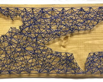 Scuba Diver and Shark string art