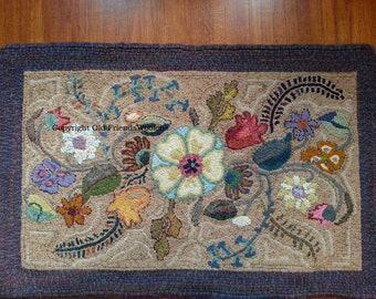 NEW PATTERN-Deco Garden Hooked Rug Pattern