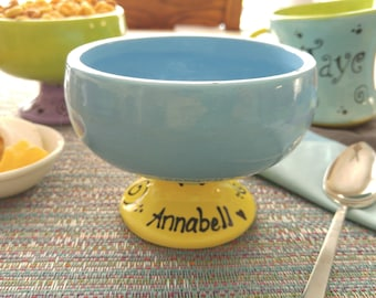 Personalized Gift, Cereal Bowl, Ice Cream Dish, Ice Cream Bowl, Birthday Boy, Birthday Girl, Birthday Party, Keepsake, Gifts Under 20