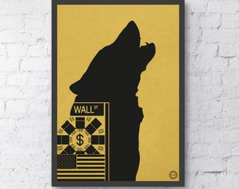 The Wolf of Wall Street Inspired Print / Scorsese / DiCaprio / Gift / Alternative Movie Poster / Professionally Printed