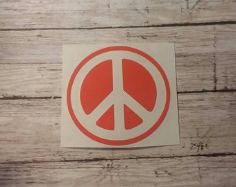 Peace Sign Decal, Car Decal, Laptop Decal, Yeti Decal, Peace Decal, Peace Sticker, Peace Sign Sticker, Hippy Decal, Decals, Stickers, Peace