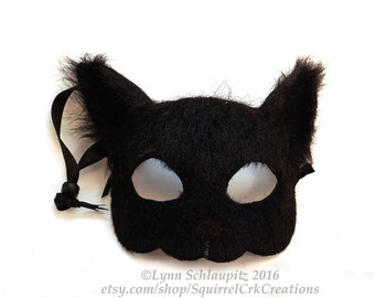 Cat mask!  Faux Fur,  Mardi Gras, Animal mask, Leather cat mask, Anime, Kitten, Role Play, Cosplay, Fantasy mask
