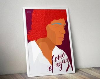 Camarón de la Isla Poster, Camarón Artwork , Camarón Print