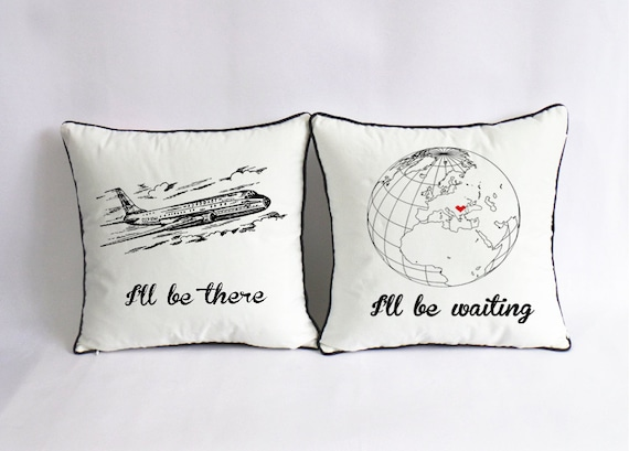 Long distance love pillow case custom long distance boyfriend