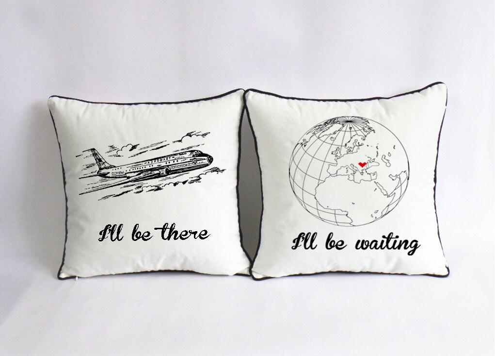 Long distance love pillow case custom long distance boyfriend