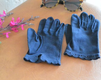 Navy Blue Vintage gloves