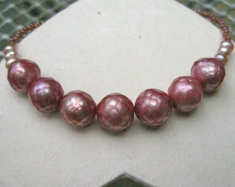 Pretty in Pink Facetted Freshwater Pearl Friendship Bracelet - B210