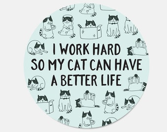 Mouse Pad Funny Cat Mousepad New Job Gift Office Decor Cat Mouse Pad Cat Lady Gift for Coworker Cubicle Decor Office Supplies Cute