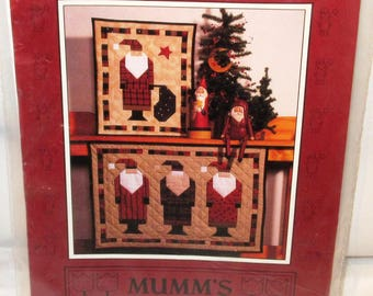Old St. Nick Quilts Pattern By Mumm's The Word Debbie Saint Nicholas 3 Santa Claus Directions Speedy Square Triangle Method Free Ship U.S.A
