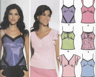 Simplicity 5060 Misses Design Your Own Tops With Trim Variations Sewing Pattern,  Size 4-10 & 12-20, UNCUT