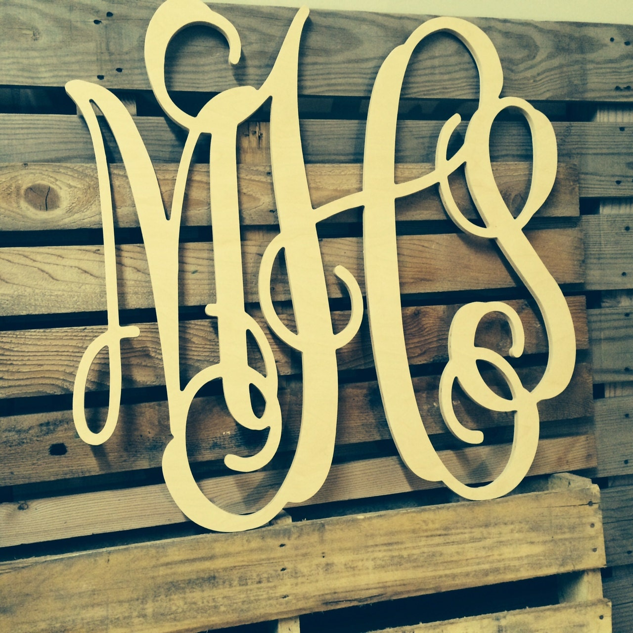 Cursive Wall Letters Painted Monogram Extra Large Wall Letters Cursive Wooden