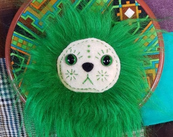 Percivallious - OOAK Upcycled Vintage Textile Wall Monster