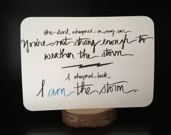 I AM THE STORM Typography Art Print