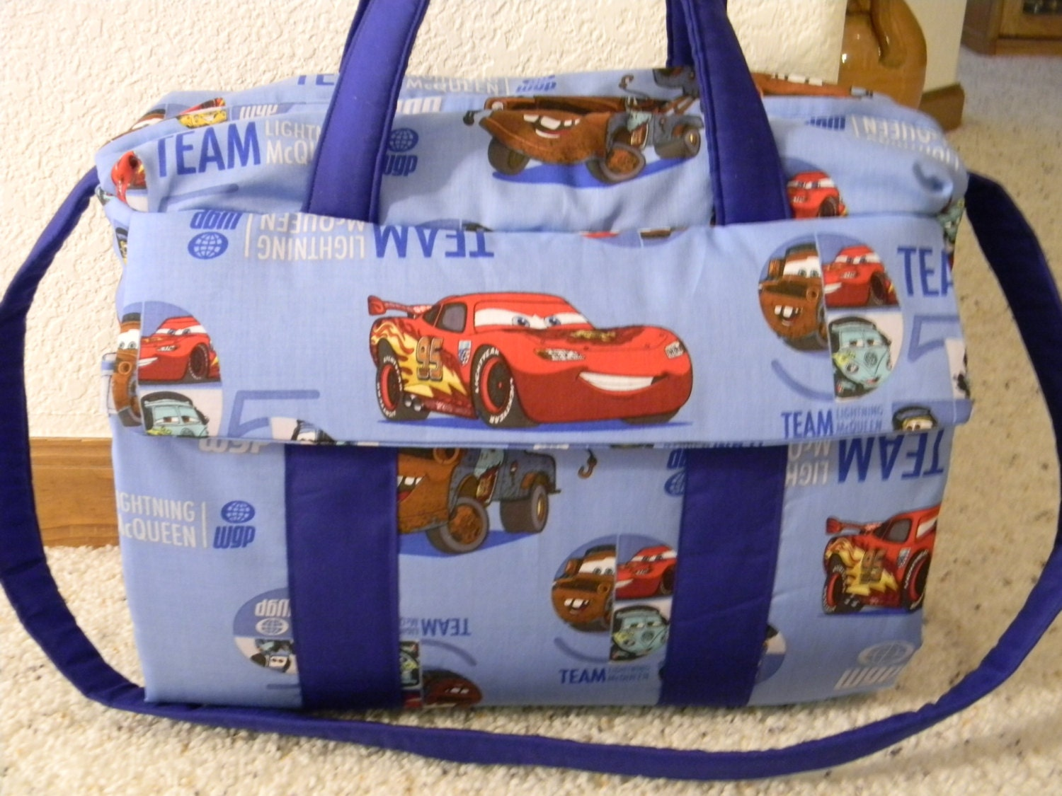Disney CARS Diaper Bag With Changing Pad By EMIJANE