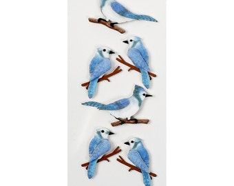 Blue Jays Mini Dimensional Stickers Little B Bird Stickers 3D Stickers Scrapbook Card Making Planner Embellishment Pocket Scrapbooking