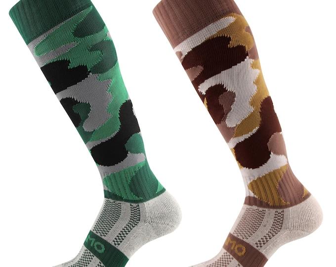 Samson® Camouflage Camo Funky Socks Cotton Sport Knee High Sport Football Rugby Hockey Soccer