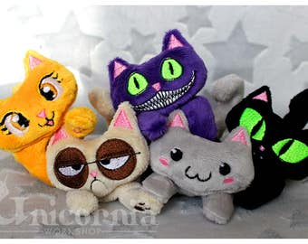 Mini Cat plush plushie kitty kittens kitties tiny cute adorable cheshire grumpy pusheen Made To Order